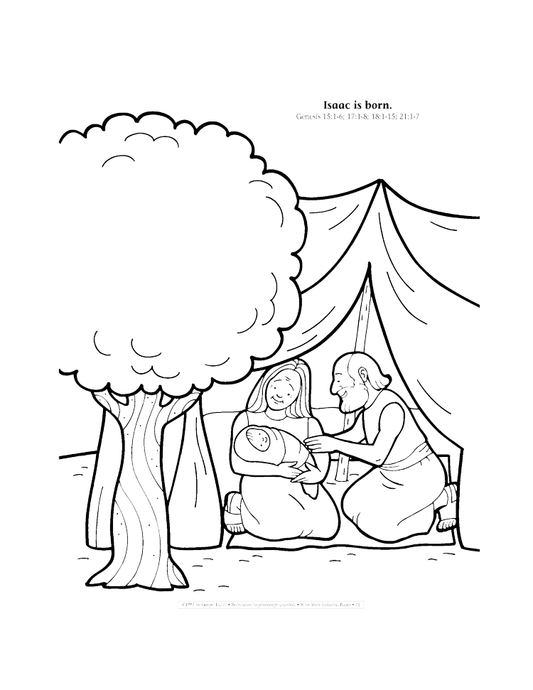 Abraham and Isaac Coloring Page - Whats in the Bible | 971x750