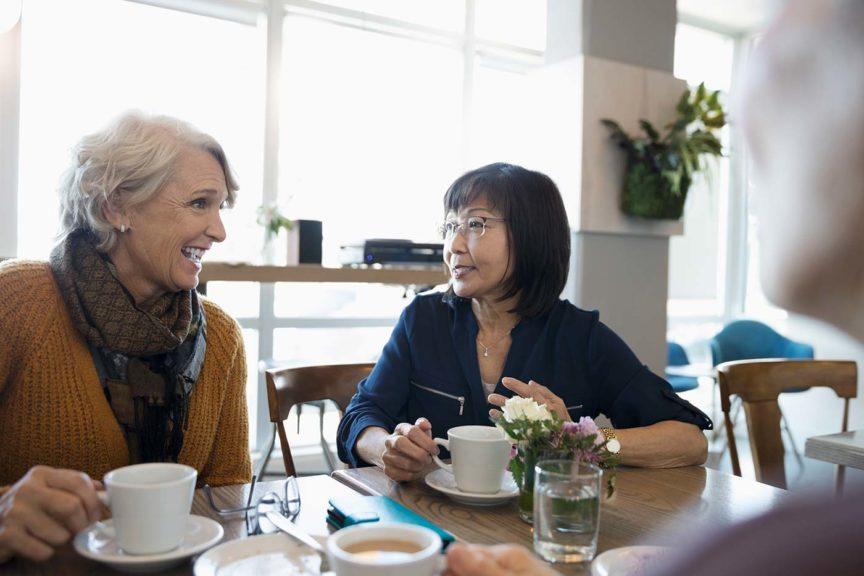 2 women having coffee church volunteer appreciation