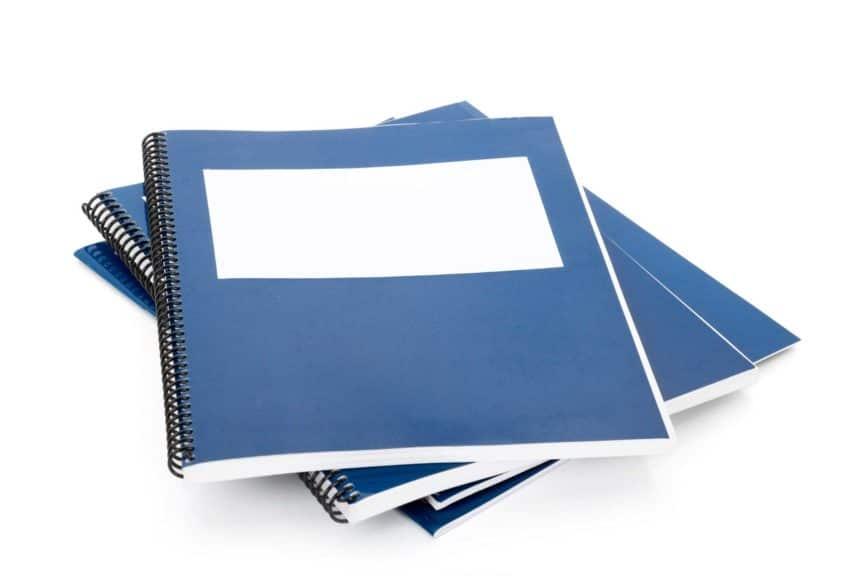 Blue school textbook