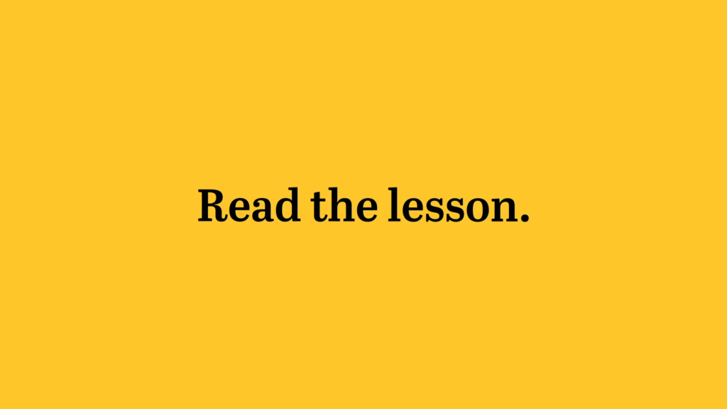 read the lesson