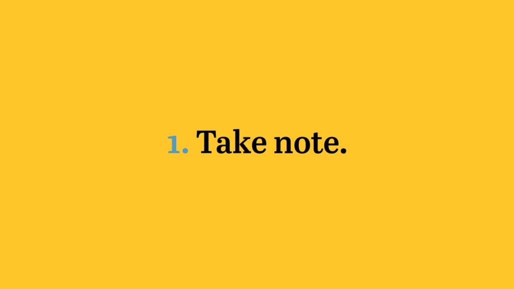 Take Note