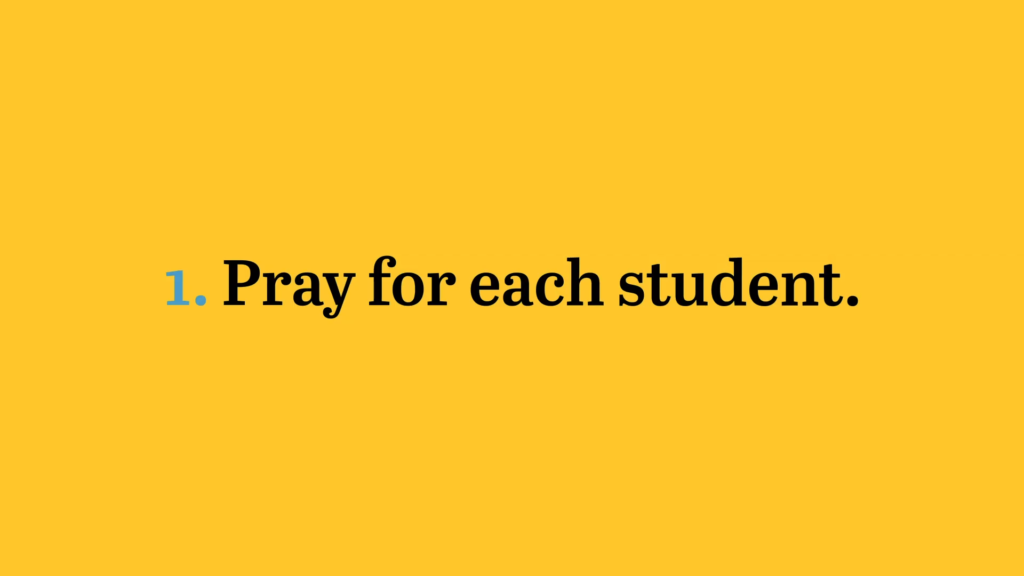 pray for each student
