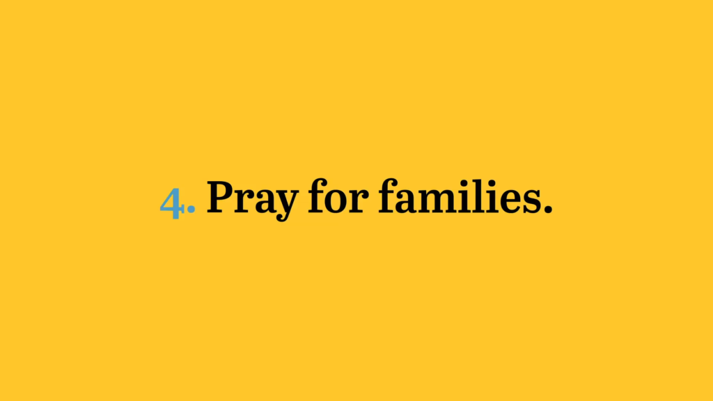 pray for families