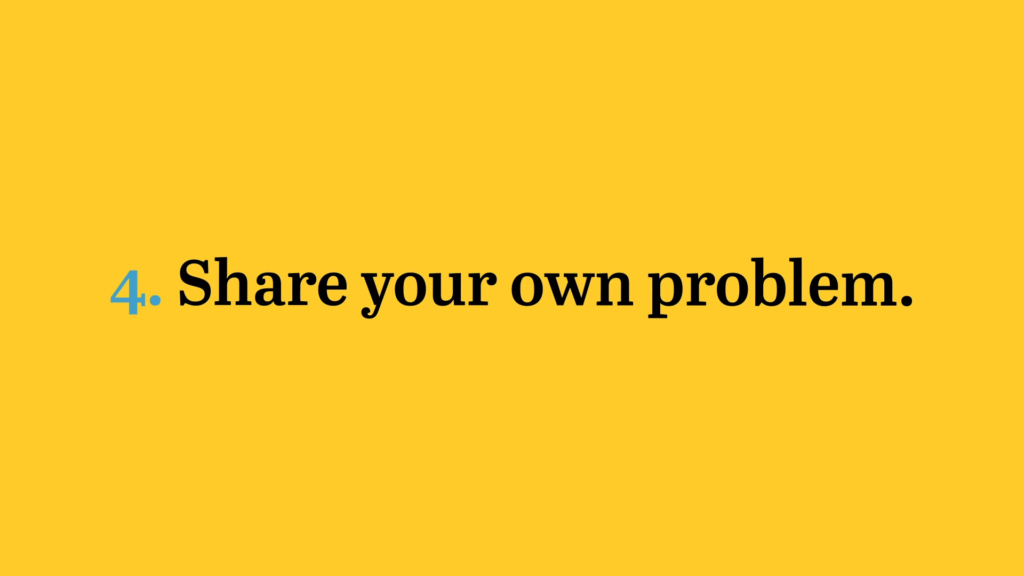 Share your own problem