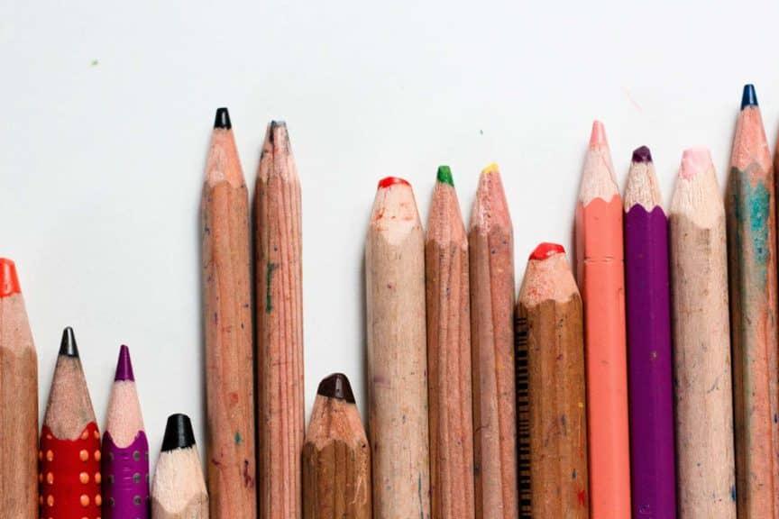 art pencils multiple colors