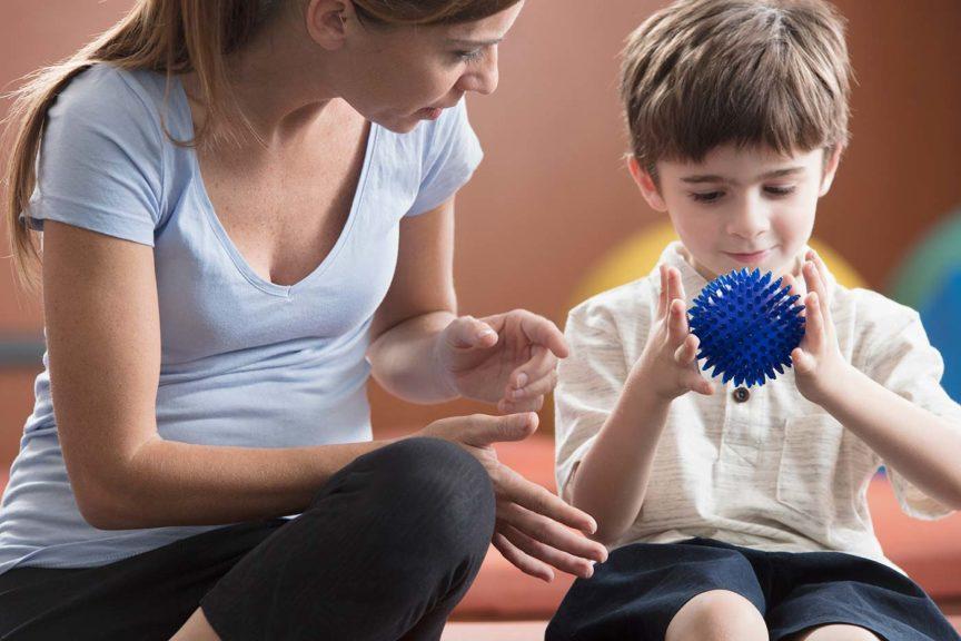 boy squeeze ball sensory toys