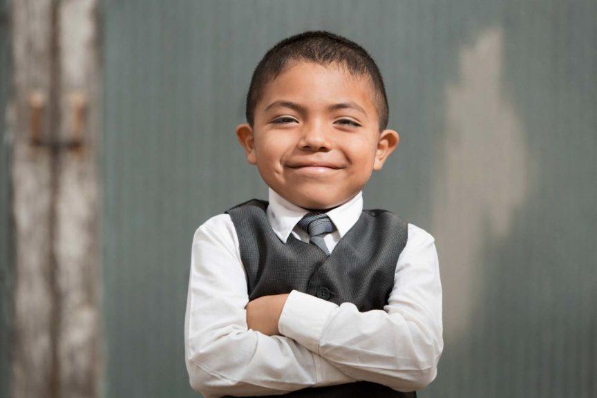 Boy Wearing Formal Suit