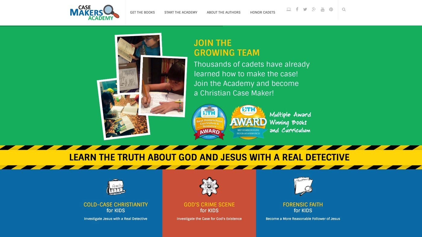 Case Makers Academy website