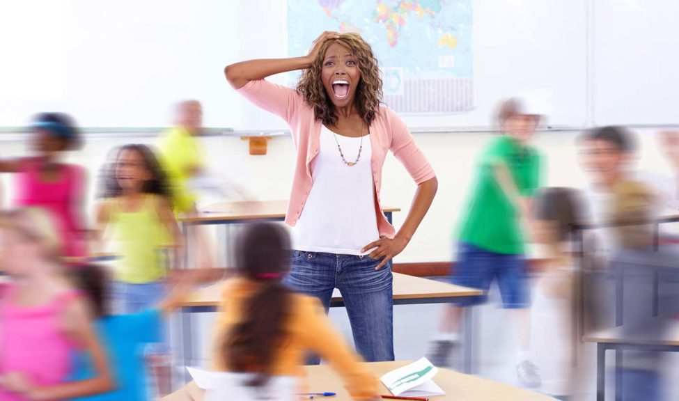 teacher in kids ministry chaos