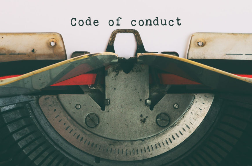 Vintage Typewriter With Text - Code of Conduct