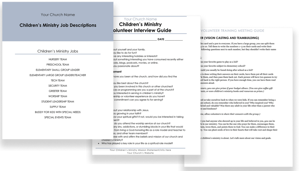 Customizable documents for Volunteer Onboarding Kit