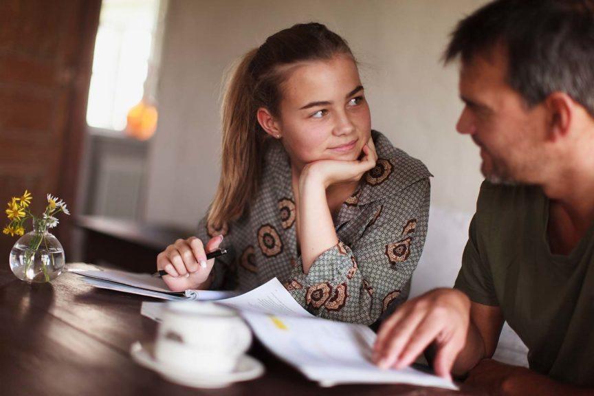 father daughter homework