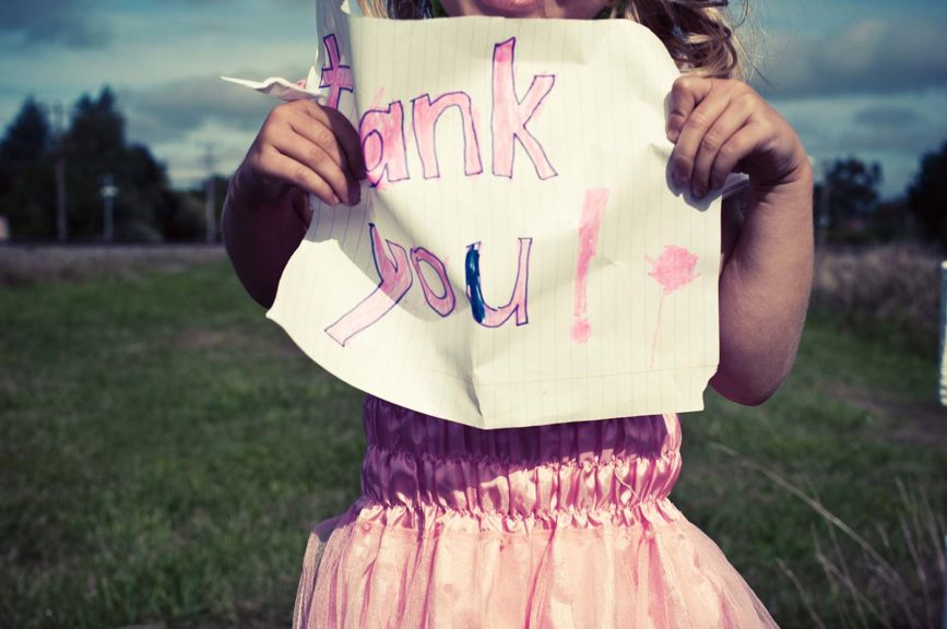 girl thank you sign church volunteer appreciation