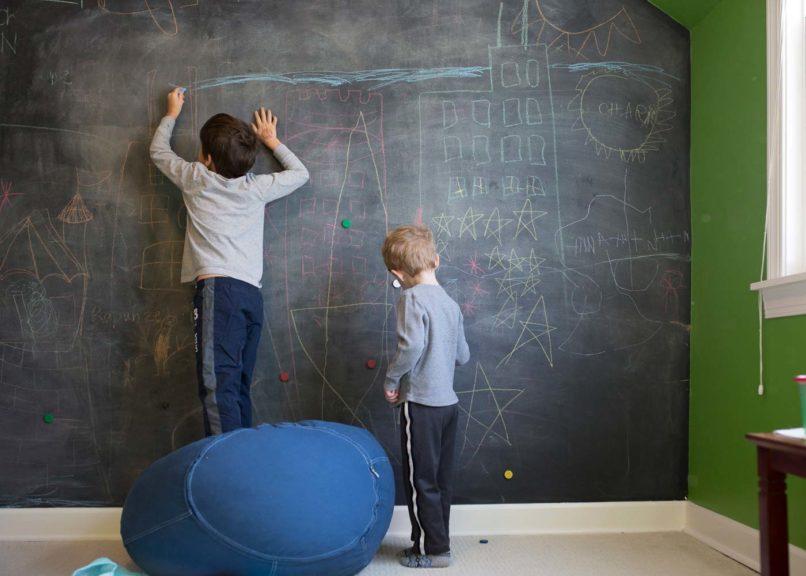 kids chalk wall