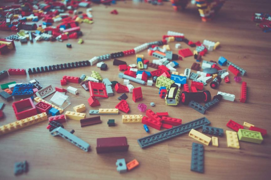 Lego on the ground