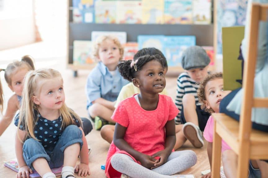 Listening to a Teacher Read a Book