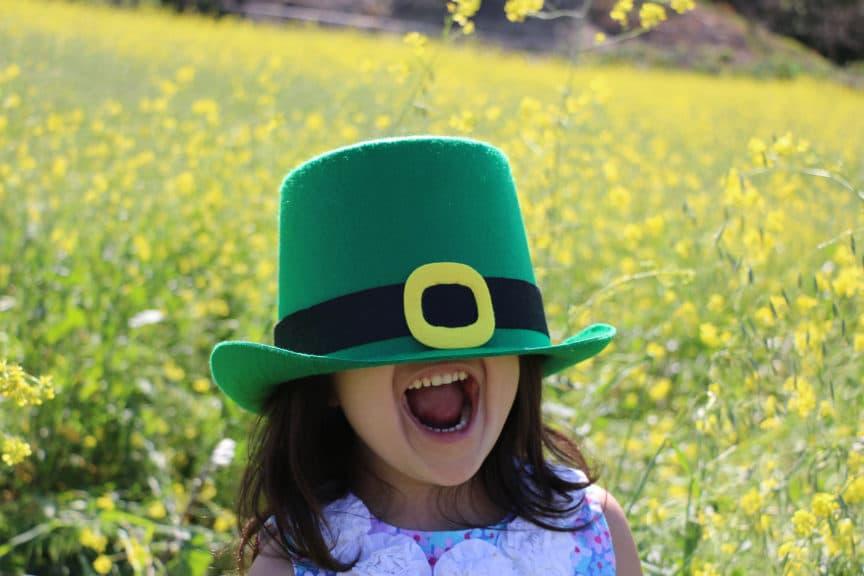 Little girl celebrating St. Patrick's Day