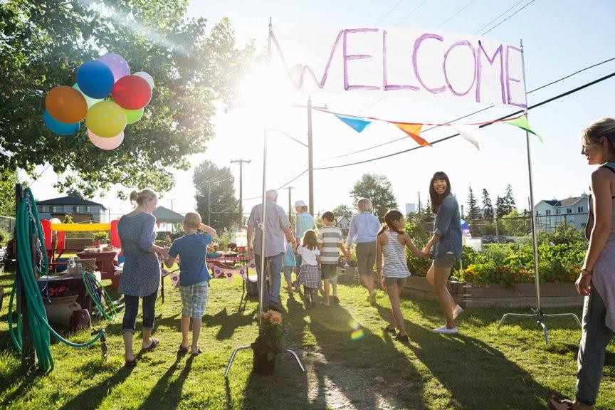 welcome sign neighbors