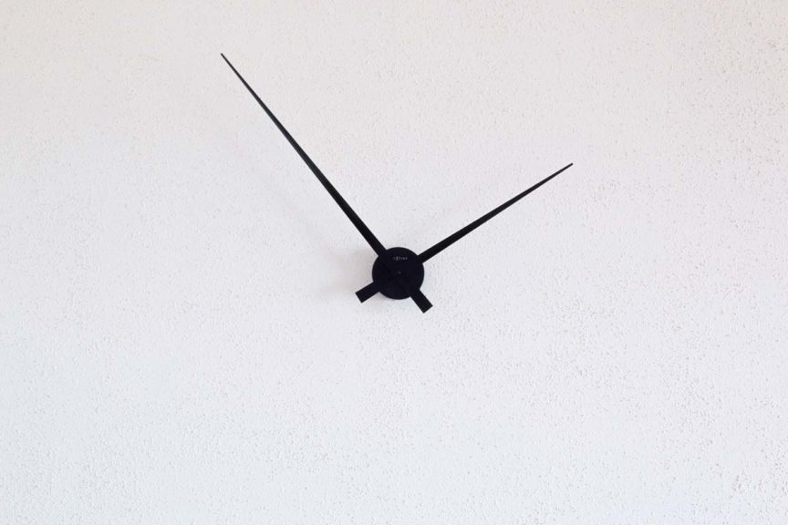 close up of white and black clock