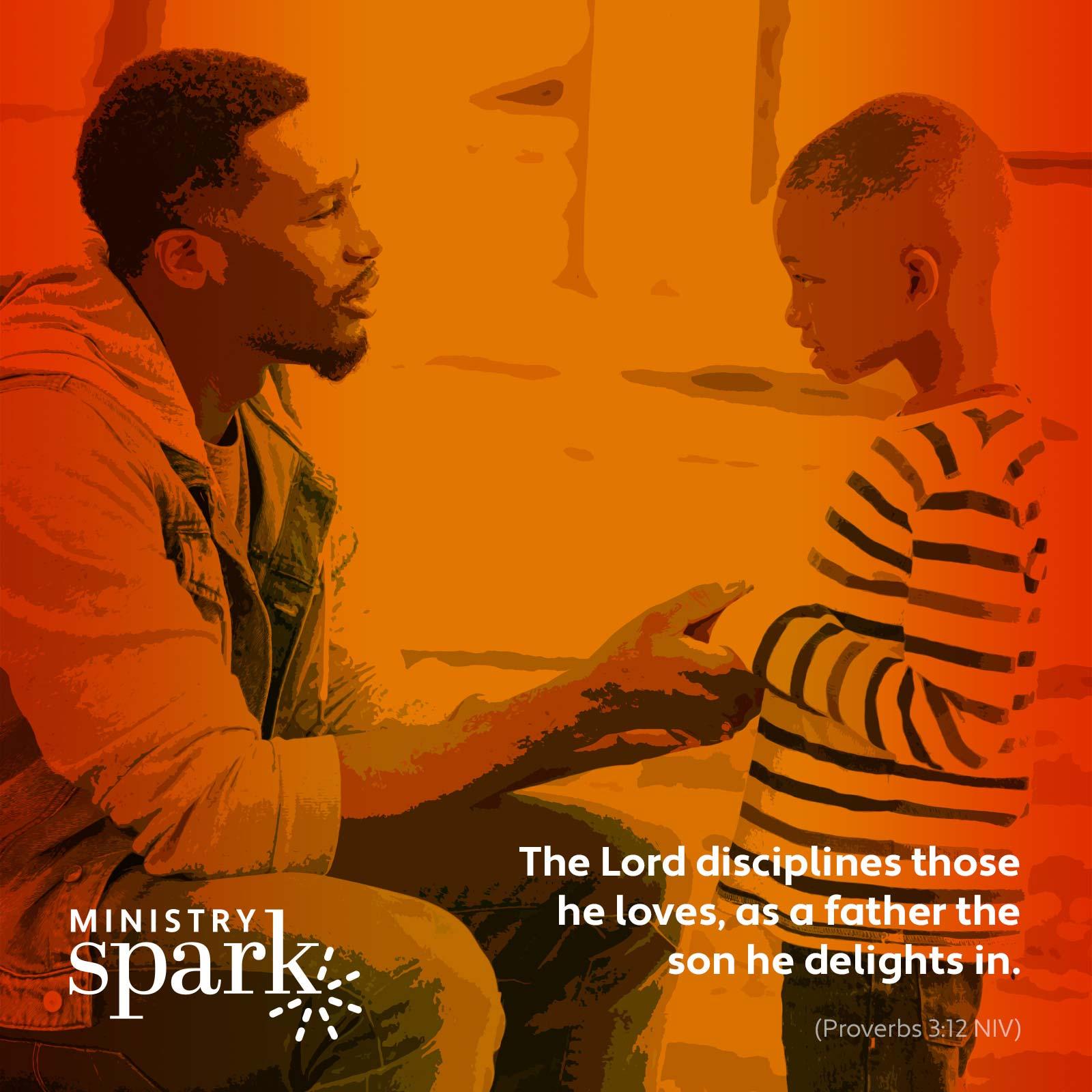 verse card fatherly discipline
