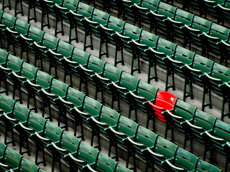 View Of Empty Chairs In Rows