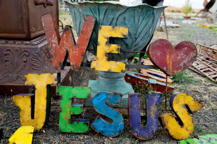 We love Jesus sign for sale at Spokane