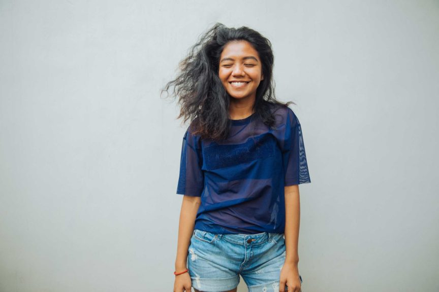 Portrait of a young Indonesian woman smiling